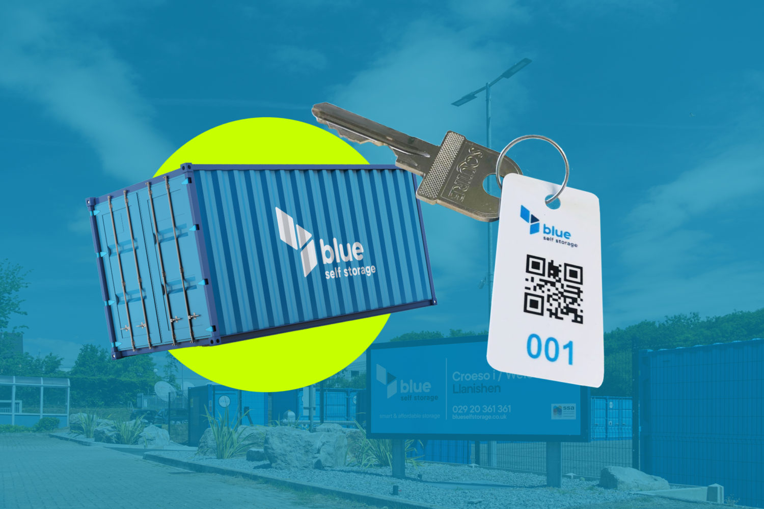 blue self storage QR automation booking system